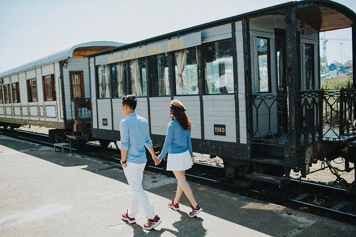 Ga tàu là một ý tưởng hay cho bộ ảnh cưới