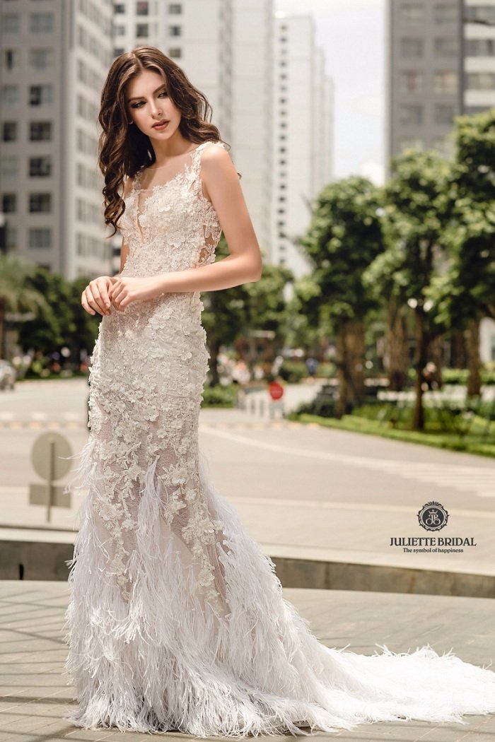Trông cô dâu sẽ như một nàng công chúa yêu kiều